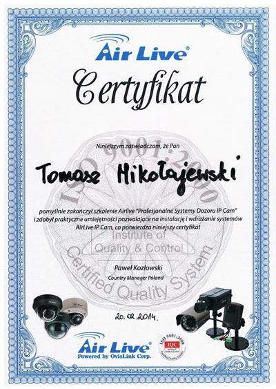 Certyfikat AirLive